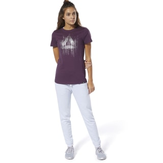 T-shirt à col rond Motion Dot Urban Violet DP6204