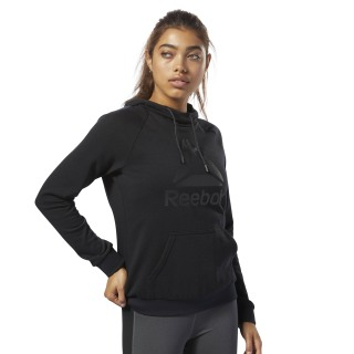 Workout Ready Logo Hoodie Black / Black D95471