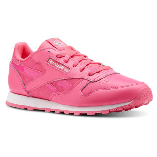 Classic Leather Girl Squad Pack Acid Pink / White CN5690