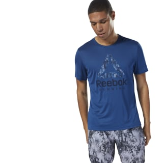 Running Graphic Tee Bunker Blue CY4681