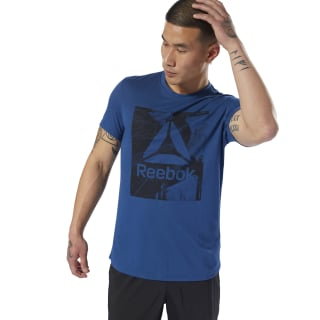 Camiseta Workout Ready Supremium Graphic Bunker Blue D94257