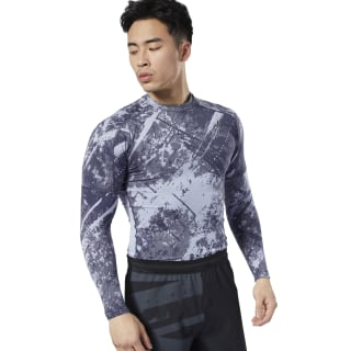 Combat Jacquard Rash Guard Denim Dust DZ4709