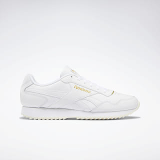 Reebok Royal Glide Ripple Shoes White / Gold Met / Cream White DV6817