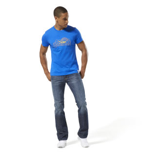 Graphic Tee Retro Vital Blue DH1265
