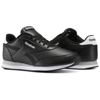 Reebok Royal Classic Jogger Shoes Black / White / Flat Grey V70722