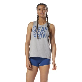 Reebok CrossFit Clean & Jerk Muscle Tank Medium Grey Heather DH3725