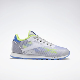 Classic Leather ATI Shoes White / Neon Lime / Crushed Cobalt EH1040