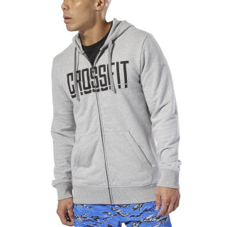 Bluza z kapturem Reebok CrossFit® Zip Medium Grey Heather DP6207