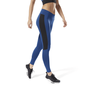 Reebok Workout Ready Big Logo Tights Bunker Blue D95047
