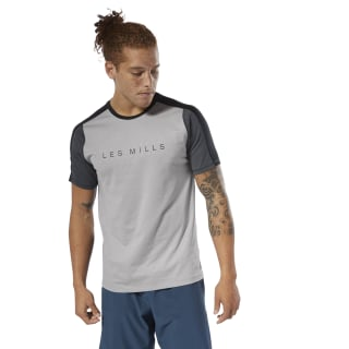 LES MILLS® SmartVent Move Tee Mgh Solid Grey DV2704