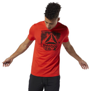 T-shirt à col rond Stamped Logo Canton Red DU4678