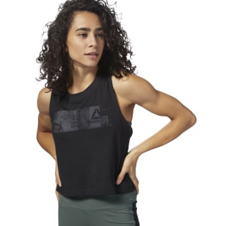 Training Essentials Cotton Mesh Tanktop Black DN5838