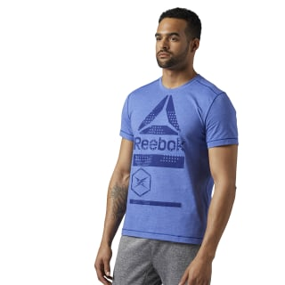 SpeedWick Graphic T-Shirt Deep Cobalt BR9703
