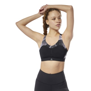 Top Reebok PureMove Bra - Shattered Ice Black DY8074