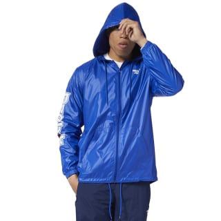 Classics International Red Button Windbreaker Cobalt EB3627
