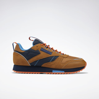 Кроссовки Reebok Classic Leather Ripple Trail Brown/wild brown/collegiate navy/cyan EG8707