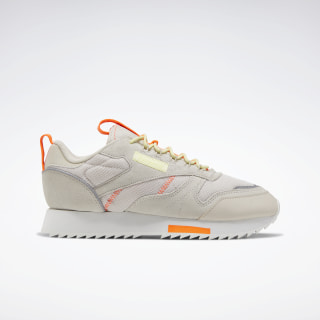 Кроссовки Reebok Classic Leather Ripple Trail Stucco / Lemon Glow / Solar Orange EG5974
