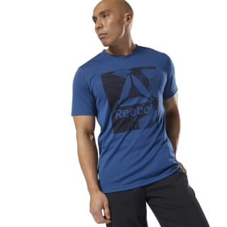 Camiseta gráfica Work Out Ready SMU bunker blue D94252
