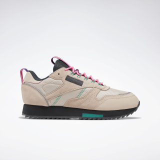 Classic Leather Ripple Trail Women's Shoes Buff / True Grey 8 / Electro Pink EG6669