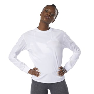 Perforated Crew Top White DU4120