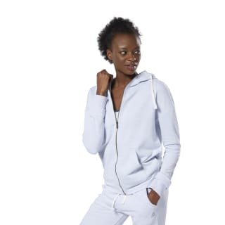 Bluza z kapturem Training Essentials Marble Full-Zip White DP6665