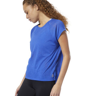 T-shirt semi-transparent Crushed Cobalt DU4085