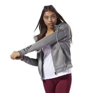Workout Ready Thermowarm Fleece Full Zip Medium Grey Heather D95027