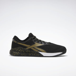 Reebok Nano 9 Men's Training Shoes Black / White / Matte Gold FV4768