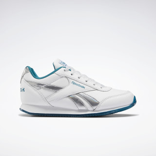 Reebok Royal Classic Jogger 2.0 Shoes White / Seaport Teal Mel / Silver Metallic EH0865
