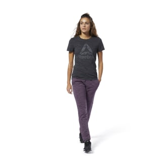 Training Essentials Marble Logo Tee Black DU4927