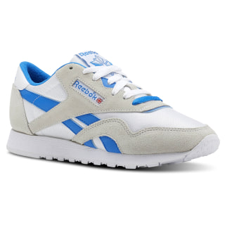 Classic Leather Nylon Archive-White/Cycle Blue CN3263
