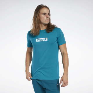 Remera Training Essentials Linear Logo Seaport Teal FK6165