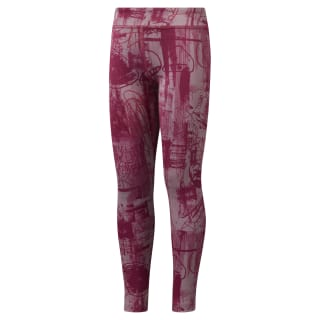 Girls Reebok Adventure Workout Ready Leggings Infused Lilac DH4311