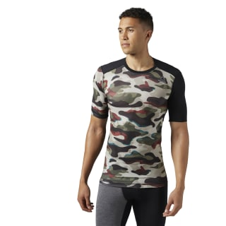 ACTIVCHILL Compression T-Shirt – Camo Print Army Green BR9566