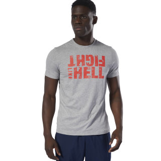 Fight Like Hell T-Shirt Medium Grey Heather DU4701