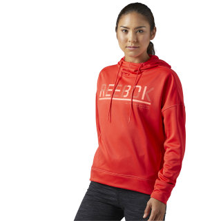 Workout Ready Pullover Hoodie Glow Red BS3402