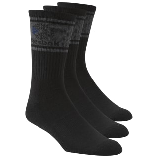 Reebok Crew Cut Socks - 3 Pack Black CJ9459