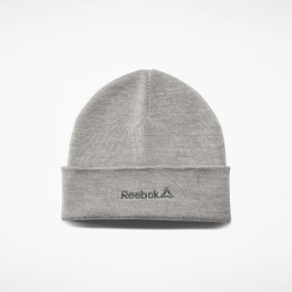 Foundation Logo Beanie Medium Grey Heather EC5588