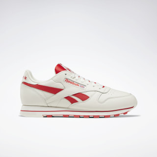 Classic Leather Shoes Chalk / Primal Red DV8740