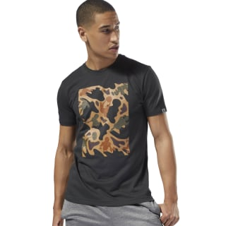 GS Training Camo Tee Coal DH3791
