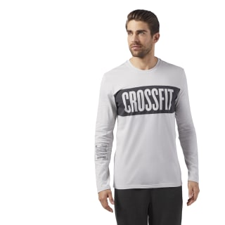 Reebok CrossFit Stripes LS T-Shirt Skull Grey CF4553