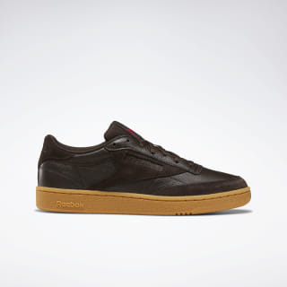 Кроссовки Reebok Club C 85 DARK BROWN/REBEL RED/GUM DV6537