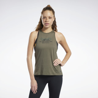 Reebok CrossFit® USA Tank Top Army Green Mel DU5094