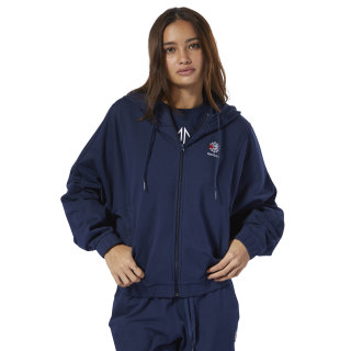 Classics French Terry Full Zip Hoodie Collegiate Navy DT7268