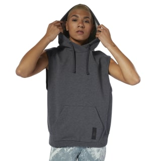 Combat Legacy Sleeveless Hoodie Dark Grey Heather DU4993