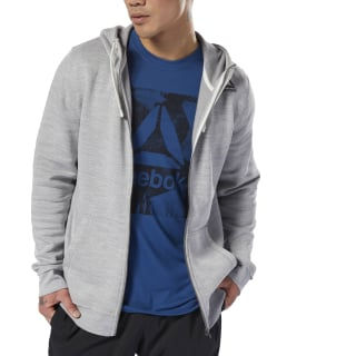 Bluza z kapturem Training Essentials Marble Full-Zip Skull Grey D94187