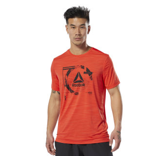 WOR ACTIVCHILL Graphic T-Shirt Canton Red DU2124