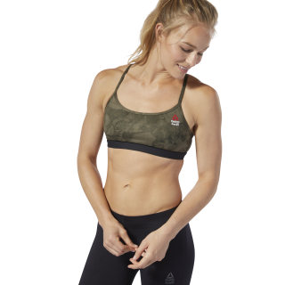 Reebok CrossFit Skinny Bra Stone Camo Brown / Black DM4006
