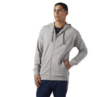 Reebok Classics Franchise Full Zip Hoodie Medium Grey Heather BQ3400