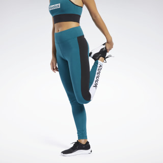 Training Essentials Linear Logo Leggings Heritage Teal FJ2741